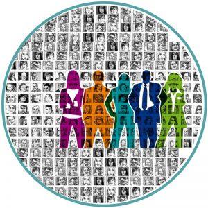 Várias imagens de cidadãos representando a diversidade