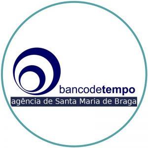 Logo da agência do Banco de Tempo em Braga