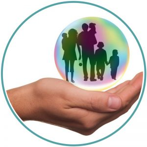 Imagem relativa à segurança que pode ser oferecida a uma família