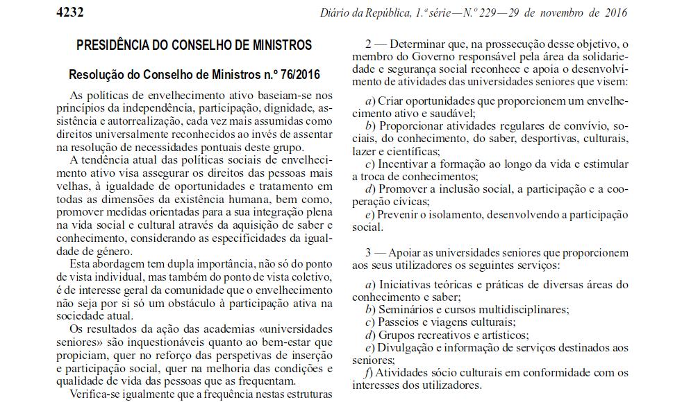 Texto recolhido do Diário da República