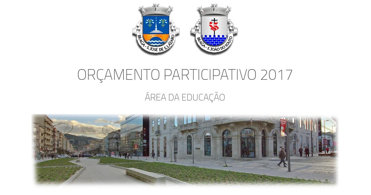 Capa relativa ao Orçamento Participativo 2017 da União Freguesias de Braga